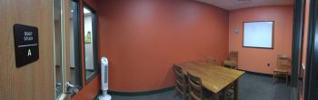 Panoramic image of the Quiet Study Room A.