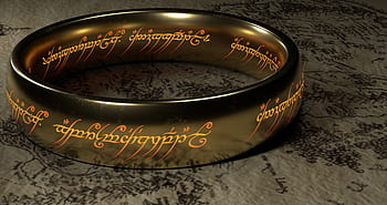 Photograph of JRR Tolkien's ring of power.